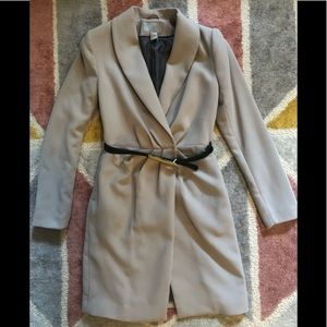 H&M beige dress trench coat jacket with belt